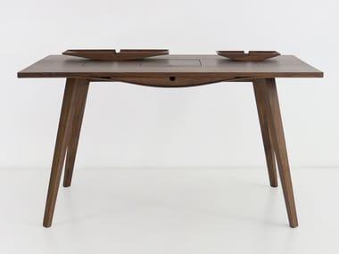 Rectangular wooden writing desk NOGA