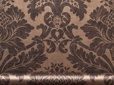 Damask wallpaper with textile effect NON-TROPPO NEW
