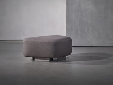 Upholstered fabric pouf NOOR | Fabric pouf