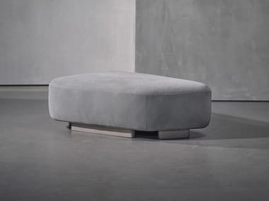 Upholstered leather pouf NOOR | Leather pouf
