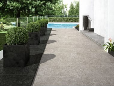 Porcelain stoneware outdoor floor tiles with stone effect NORD | Outdoor floor tiles