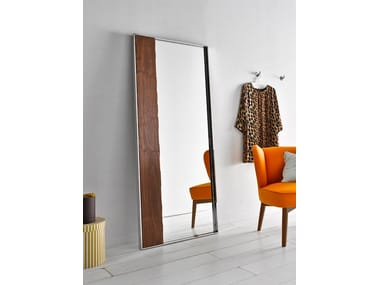 Contemporary style framed freestanding rectangular mirror NORDIC | Mirror