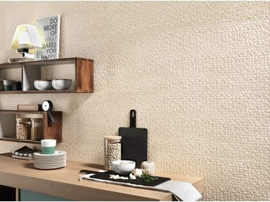 White-paste 3D Wall Mosaic with stone effect NORDIC STONE WALL DANIMARCA ESAGONETTE