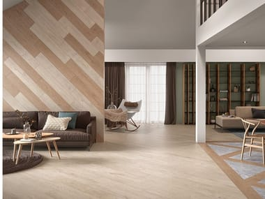 Indoor/outdoor wall/floor tiles with wood effect NORDIK