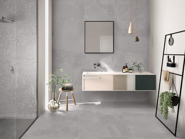 Indoor/outdoor porcelain stoneware wall/floor tiles NORDIKA GREY