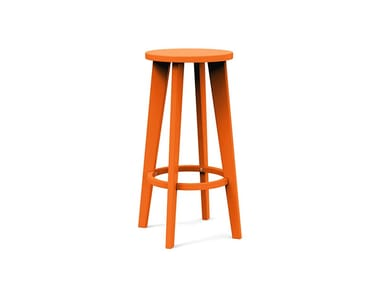 High recycled plastic garden stool NORM | High stool
