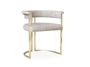 Upholstered fabric chair with armrests NORMA