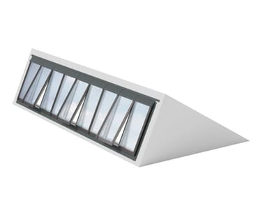 Glass and steel roof window NORTHLIGHT 25-90°