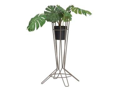 Vaso da giardino alto in acciaio zincato NOSTRUM | Vaso da giardino