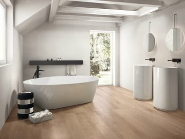 Porcelain Stoneware Flooring With Wood Effect NOTE BEIGE