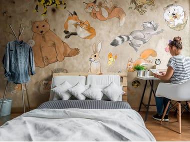 Rubber nonwoven kids wallpaper NOTTINGHAM