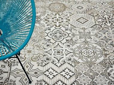 Technical porcelain flooring with encaustic effect NOUVEAU