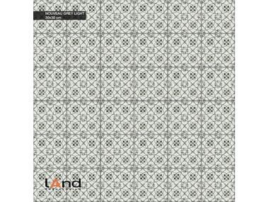 Technical porcelain flooring with encaustic effect NOUVEAU LIGHT GREY