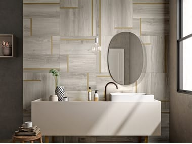 Porcelain stoneware wall/floor tiles with wood effect NUANCE DECORI