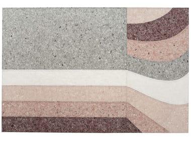 Handmade rectangular rug NUANCES BURGUNDY | Rug