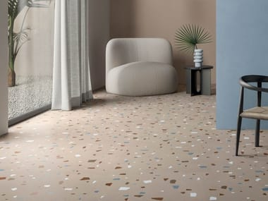 Revestimiento de pared/suelo de gres porcelánico efecto terrazzo NUANCES CIPRIA COCCIO
