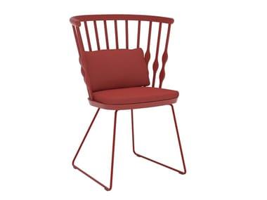 Sled base beech chair NUB SO1435