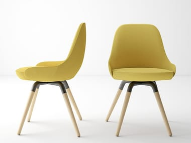 Upholstered fabric chair NUBA | Upholstered chair