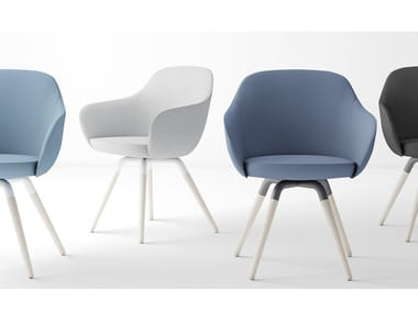 Fabric chair with armrests NUBA XL