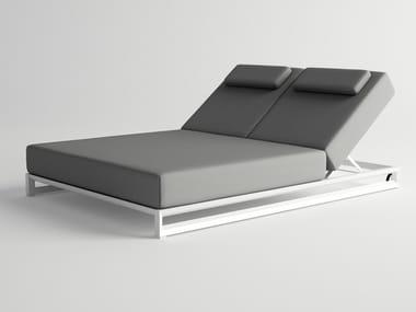 Double recliner garden bed with casters NUBES | Garden bed