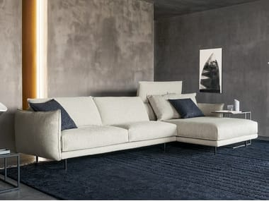 Sectional fabric sofa with chaise longue NUBES   Sectional sofa