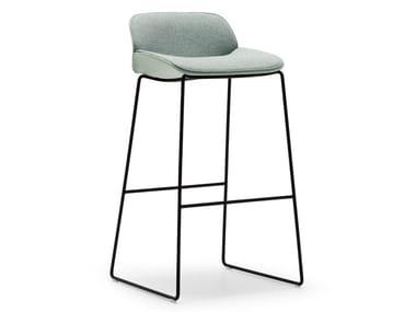 High sled base stool with back NUEZ BQ2781