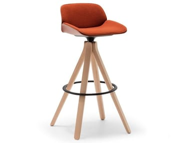 High swivel stool with back NUEZ BQ2779