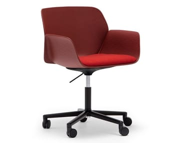 Swivel chair with 5-spoke base with castors NUEZ SO2773