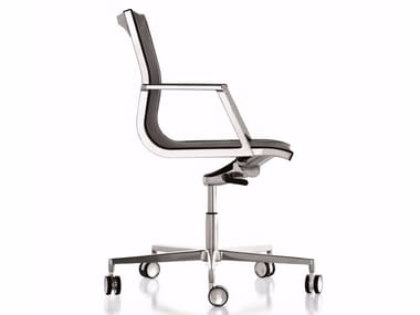Executive chair with 5-spoke base with castors NULITE | Executive chair with 5-spoke base