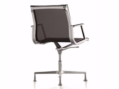 Office chair with 4-Spoke base with armrests NULITE | Office chair with 4-Spoke base