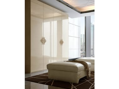 Lacquered wooden wardrobe for hotel rooms NUMERO TRE | Wardrobe