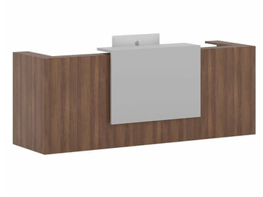 Modular wood veneer Reception desk NUOVA