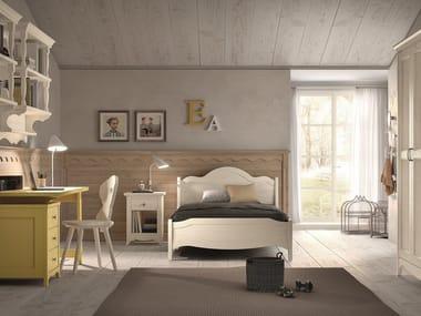 Schlafzimmer aus massivem Holz mit Etagenbett NUOVO MONDO N24 ...