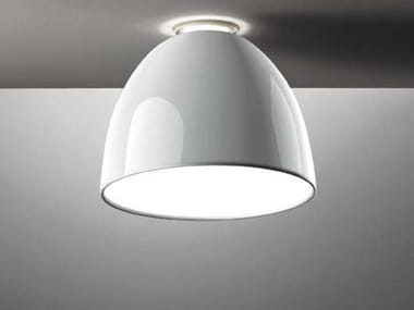 Direct-indirect light ceiling lamp NUR GLOSS | Ceiling lamp