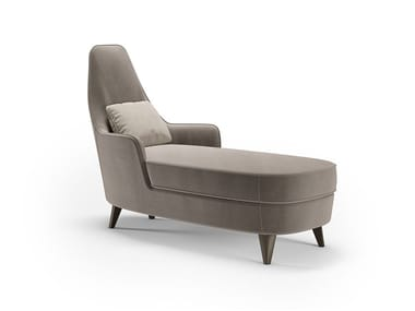 Upholstered leather Chaise longue NUVOLA | Chaise longue