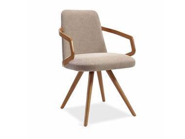Cadeira estofada de tecido com braços NUZZLE CB