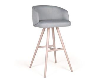 Upholstered solid wood barstool NUZZLE EST CB BAR