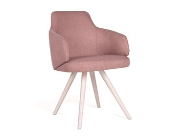 Upholstered chair with armrests NUZZLE EST CB