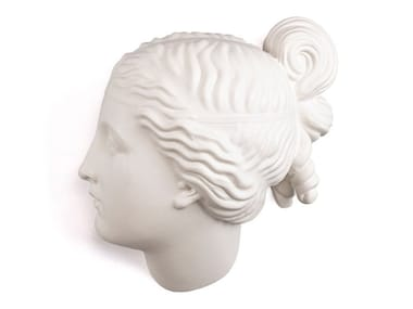 Porcelain wall decor item NYMPH HEAD