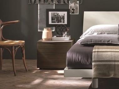 Rectangular oak bedside table PICCADILLY | Oak bedside table