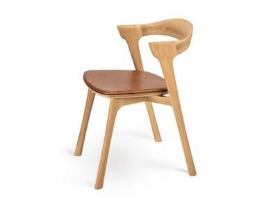 Oak chair with integrated cushion OAK BOK | Chair with integrated cushion