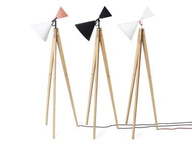 Lámpara de pie ajustable de roble LIGHT TALE | Lámpara de pie de roble