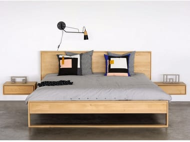 Oak double bed OAK NORDIC II | Oak bed