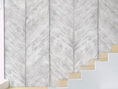 Papel de parede ecológico lavável livre de PVC estilo industrial OANNES