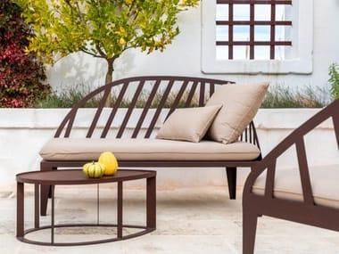 Chaise longue en Corten™ OBLì