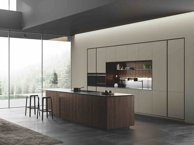 Fitted kitchen with island OBLIQUA | Kitchen with island
