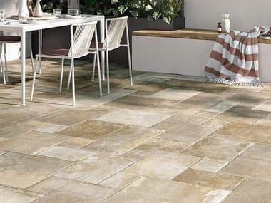 Pavimento in gres porcellanato effetto pietra OCCITANIE BEIGE