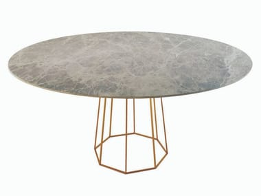 Round marble table OCTO | Marble table