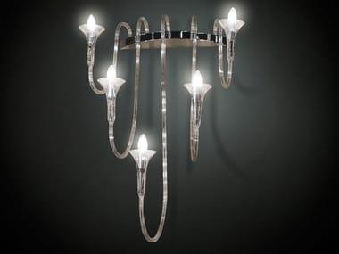 Glass wall light OCTOPUS | Wall light