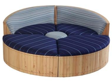 Round garden sofa ODDELI